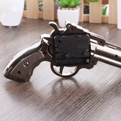 Gun Design Clock Exquisite Ornament Home DecorCrafts<br>Gun Design Clock Exquisite Ornament Home Decor<br><br>For: Friends, Lovers, Parents<br>Package Contents: 1 x Clock<br>Package size (L x W x H): 25.00 x 15.00 x 10.00 cm / 9.84 x 5.91 x 3.94 inches<br>Package weight: 0.1400 kg<br>Product size (L x W x H): 22.50 x 13.50 x 7.00 cm / 8.86 x 5.31 x 2.76 inches<br>Product weight: 0.1200 kg<br>Subjects: Fashion