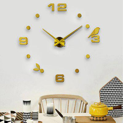 Timelike T4206 3D Effect Decal Number Design Wall Clock