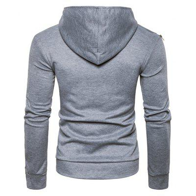 Solid Color Asymmetric Hoodie SweatshirtMens Hoodies &amp; Sweatshirts<br>Solid Color Asymmetric Hoodie Sweatshirt<br><br>Clothes Type: Hoodie<br>Material: Cotton, Polyamide<br>Package Contents: 1 x Sweatshirt<br>Package size: 40.00 x 30.00 x 4.00 cm / 15.75 x 11.81 x 1.57 inches<br>Package weight: 0.4800 kg<br>Pattern: Solid Color<br>Product weight: 0.4500 kg<br>Style: Casual<br>Thickness: Regular