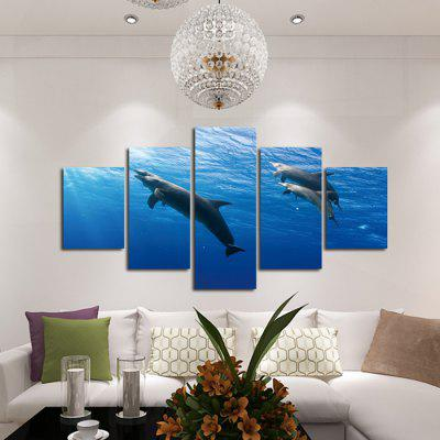 God Painting Canvas Prints Dolphins Home Decoration 5PCSPrints<br>God Painting Canvas Prints Dolphins Home Decoration 5PCS<br><br>Brand: God Painting<br>Craft: Print<br>Form: Five Panels<br>Material: Canvas<br>Package Contents: 5 x Print<br>Package size (L x W x H): 42.00 x 6.00 x 6.00 cm / 16.54 x 2.36 x 2.36 inches<br>Package weight: 0.4000 kg<br>Painting: Without Inner Frame<br>Product weight: 0.3600 kg<br>Shape: Horizontal Panoramic<br>Style: Modern/Contemporary, Modern Style<br>Subjects: Animal<br>Suitable Space: Bedroom,Corridor,Dining Room,Hotel,Indoor,Office,Outdoor