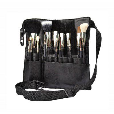 Make-up Pinsel Set mit luxeriöser Leder Effekt Tragetasche