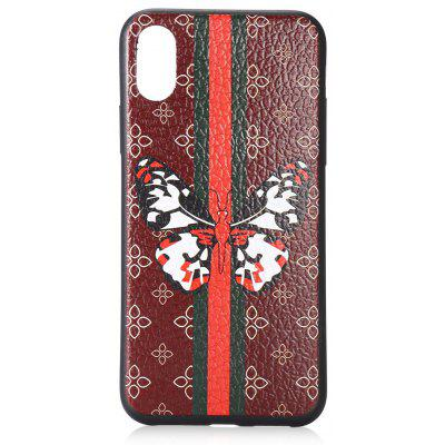 Butterfly Lichee Grain Phone Case for iPhone X TPU Soft Cover