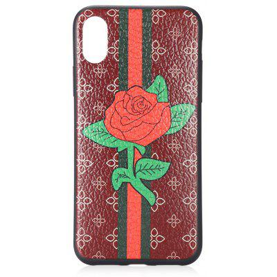 Rose Lichee Grain Phone Case for iPhone X TPU Slim Soft Cover