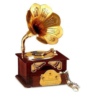 Retro Style Gramophone Music Box Home Decoration 1PC