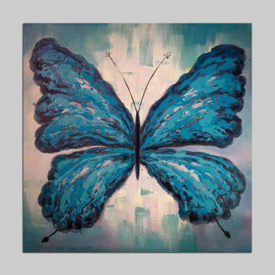 Mintura MT160647 Blue Butterfly Canvas Oil Painting