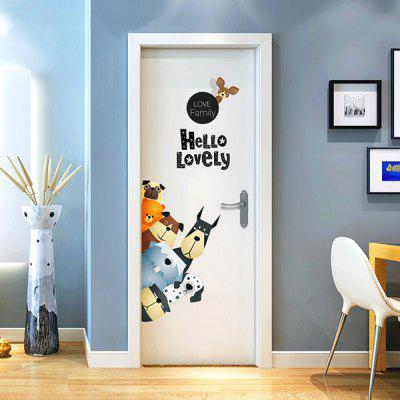 Wall Sticker Cartoon Pattern for Home DecorationWall Stickers<br>Wall Sticker Cartoon Pattern for Home Decoration<br><br>Art Style: Plane Wall Stickers<br>Function: Decorative Wall Sticker<br>Material: Vinyl(PVC), Self-adhesive Plastic<br>Package Contents: 1 x Wall Sticker<br>Package size (L x W x H): 20.00 x 10.00 x 10.00 cm / 7.87 x 3.94 x 3.94 inches<br>Package weight: 0.1500 kg<br>Product weight: 0.1200 kg<br>Quantity: 1<br>Subjects: Cartoon<br>Suitable Space: Bedroom,Boys Room,Girls Room,Kids Room,Living Room<br>Type: Plane Wall Sticker