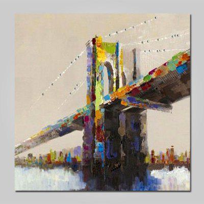 Mintura MT160627 Hand Painted Bridge Canvas Oil Painting