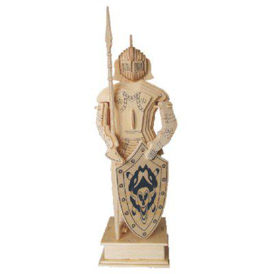 3D Warrior Style Wooden Assembled Model Set