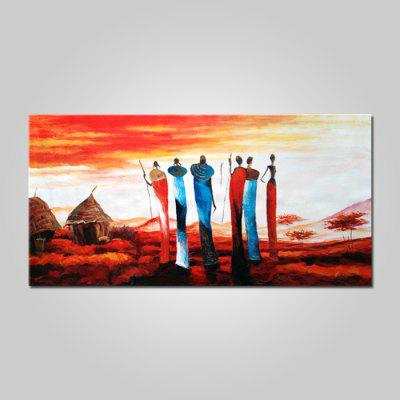 Mintura Oil Painting Hand-painted African Tribal Landscape