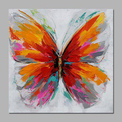 Mintura Oil Painting Hand-painted Modern Butterfly Pattern
