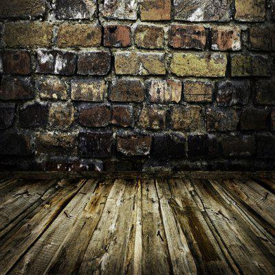 WT20 Vintage Brick Wall Wood Floor Background Cloth