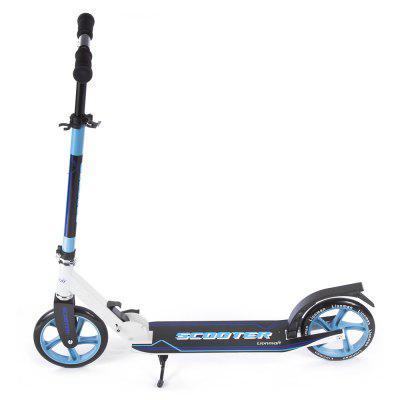 Adults 20.5cm 2 Wheels Kick Scooter Aluminum Alloy FrameKick Scooter<br>Adults 20.5cm 2 Wheels Kick Scooter Aluminum Alloy Frame<br><br>Folding Type: Folding<br>Front Wheel Size: 20.5cm<br>Maximum Payload: 100kg<br>Package Content: 1 x Folding Kick Scooter, 5 x Installation Tool<br>Package size: 83.00 x 18.00 x 32.00 cm / 32.68 x 7.09 x 12.6 inches<br>Package weight: 4.8000 kg<br>Product size: 92.00 x 36.00 x 102.00 cm / 36.22 x 14.17 x 40.16 inches<br>Product weight: 3.9000 kg<br>Rear Wheel Size: 20.5cm<br>Seat Type: without Seat<br>Suitable for: Adults<br>Type: Two Wheels