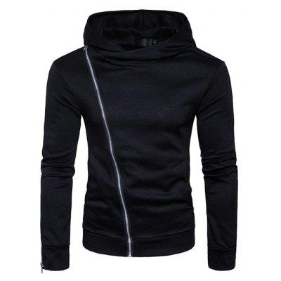 Solid Color Asymmetric Hoodie Sweatshirt