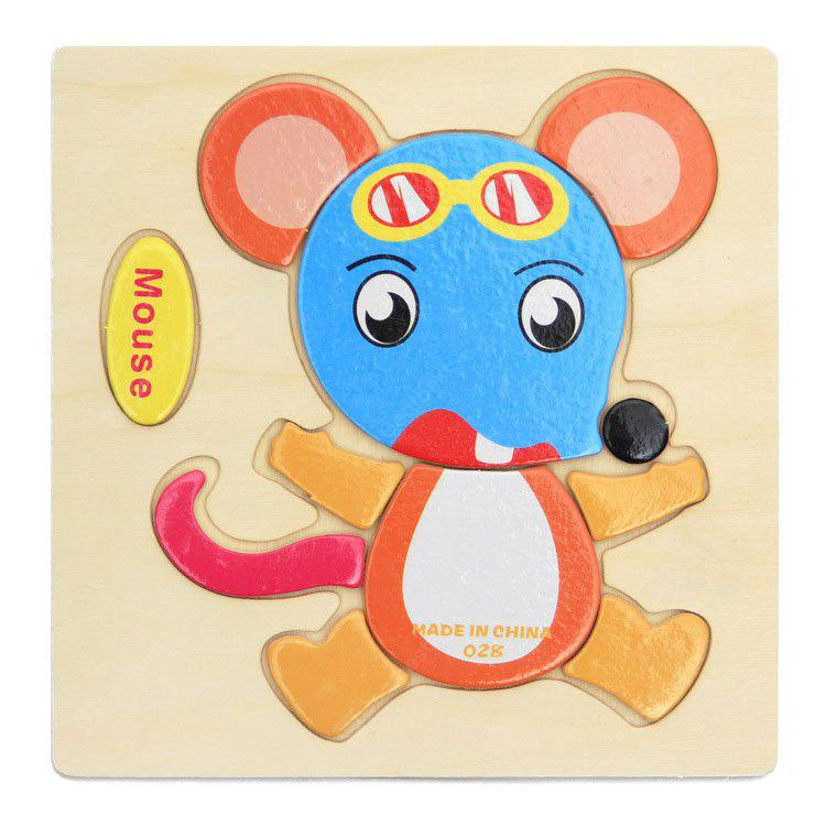 Buy Wooden Tangram Jigsaw Puzzles Cartoon Style MOUSE COLORMIX