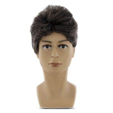 Men Short Curly Hair Synthetic Artificial Hairpiece Wig