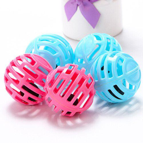 Beautiful Funny Cats Pet Toy Plastic Bell Balls 5pcs