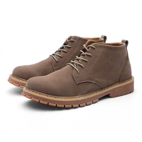 Male Nostalgic Soft Ankle Top Casual Boots