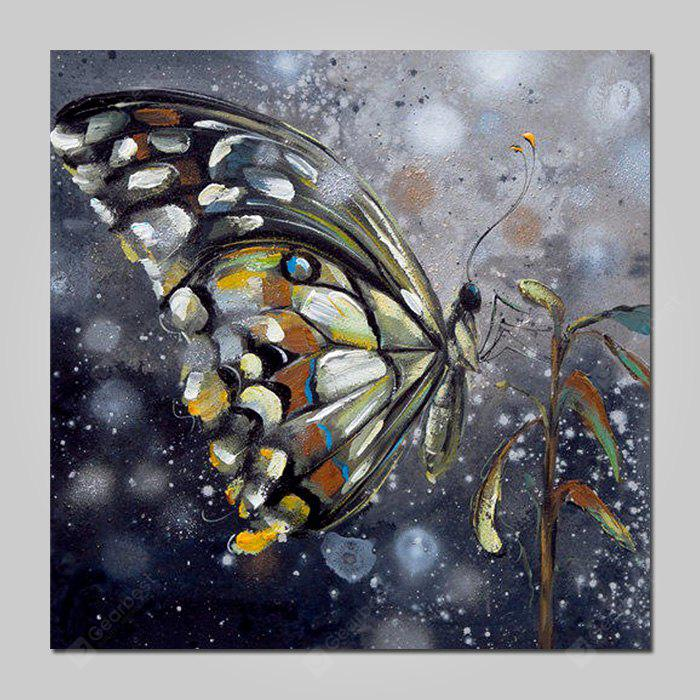 Mintura Oil Painting Hand-painted Butterfly Unframed