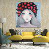 Mintura MT160631 Hand Painted Girl Canvas Oil Painting - COLORMIX