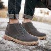 Male Nostalgic Soft Ankle Top Casual Boots - GRAY