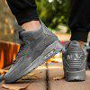 Men Cushioning Lace-up Leather Athletic Shoes - GRAY
