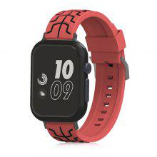 Fishbone Silicone Watchband for 42mm Apple Watch