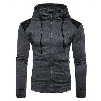Simple Hooded Sweatshirt Jacket