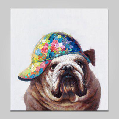 YHHP Colorful Hat Dog Printed Print