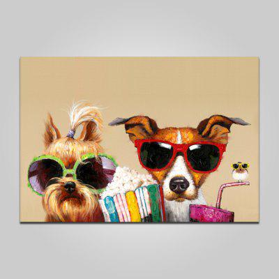 Buy COLORMIX YHHP Happy Dog Wall Decor Print for $12.09 in GearBest store