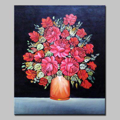 Mintura MT160670 Red Flowers Canvas Oil Painting