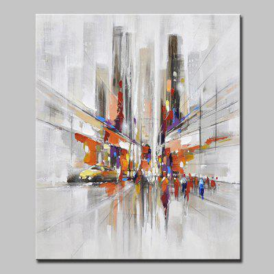 Mintura MT160669 Abstract City Streets Canvas Oil Painting