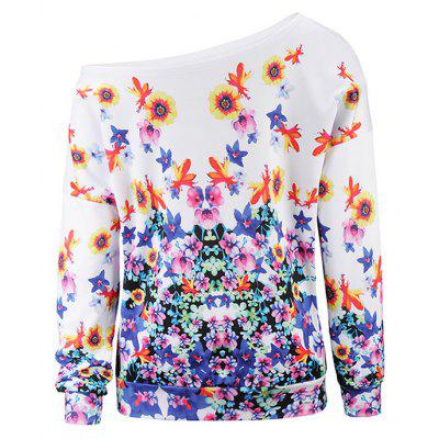 Women Flowers Print Off-shoulder Halloween HoodySweatshirts &amp; Hoodies<br>Women Flowers Print Off-shoulder Halloween Hoody<br><br>Clothes Type: Hoodie<br>Material: Polyester, Spandex<br>Occasion: Daily Use, Club, Casual<br>Package Contents: 1 x Hoody<br>Package size: 38.00 x 20.00 x 2.00 cm / 14.96 x 7.87 x 0.79 inches<br>Package weight: 0.3200 kg<br>Product weight: 0.3000 kg<br>Style: Casual, Brief