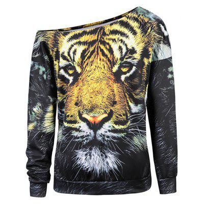 Women Tiger Print Off-shoulder Halloween HoodySweatshirts &amp; Hoodies<br>Women Tiger Print Off-shoulder Halloween Hoody<br><br>Clothes Type: Hoodie<br>Material: Polyester, Spandex<br>Occasion: Club, Casual<br>Package Contents: 1 x Hoody<br>Package size: 38.00 x 28.00 x 2.00 cm / 14.96 x 11.02 x 0.79 inches<br>Package weight: 0.3200 kg<br>Product weight: 0.3000 kg<br>Style: Casual