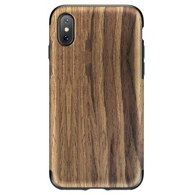 ROCK Nonslip Wood + TPU Rubber Soft Case for iPhone X