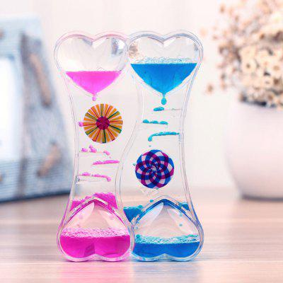 Creative Double-heart Oil Hourglass 1pc