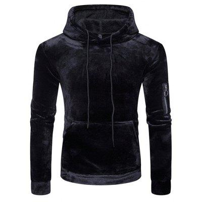 Hooded Fashion Coral Sweatshirt Velvet Hoodie tvw6rvxq