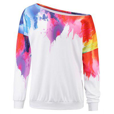 Dyed Off-shoulder Halloween Hoody