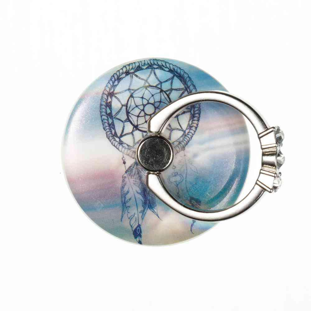 Practical Windbell Pattern Round Phone Holder Ring