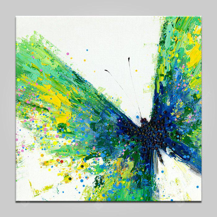 YHHP Green Butterfly Wall Decor Print