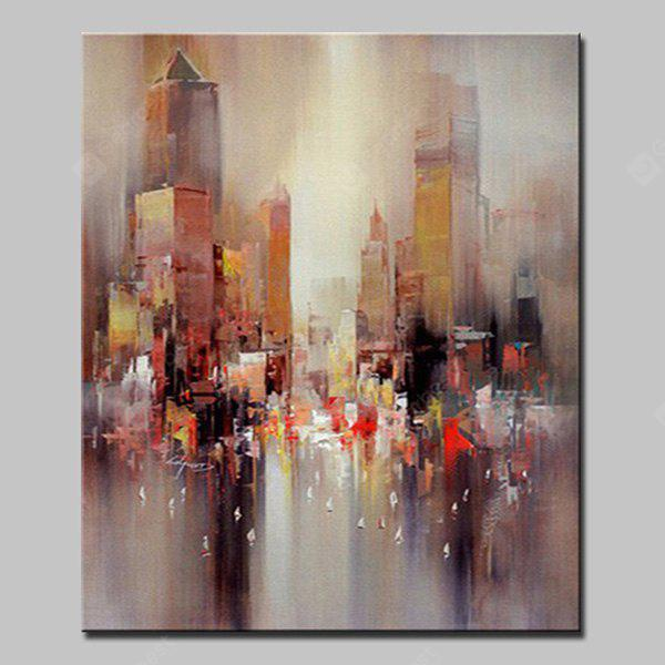 Mintura MT160668 Abstract City Canvas Oil Painting