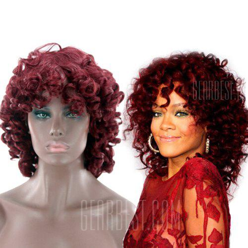 Female Fashionable Short Curly Artificial Synthetic Wig