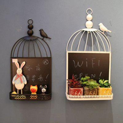 MCYH Bird Cage Shape Home Decoration Wall Hanging
