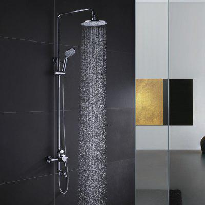 Contemporary Single Handle Bathroom Shower Faucet Set