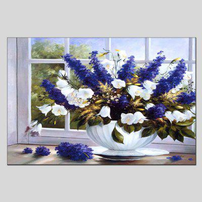 Buy COLORMIX Hua Tuo Modern Canvas Oil Painting Flowers Framed Wall Art for $51.88 in GearBest store