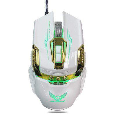 Buy WHITE ZERODATE X900 Wired Gaming Mouse Breathing LED Setting for $11.69 in GearBest store
