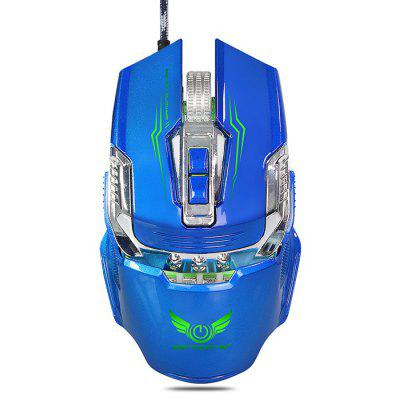 Buy BLUE ZERODATE X900 Wired Gaming Mouse Breathing LED Setting for $11.69 in GearBest store