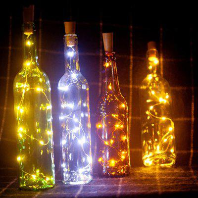 10-LED Bottle Decorative Energy-saving String LightsChristmas Supplies<br>10-LED Bottle Decorative Energy-saving String Lights<br><br>For: All<br>Package Contents: 1 x String of Lights<br>Package size (L x W x H): 6.00 x 4.00 x 3.00 cm / 2.36 x 1.57 x 1.18 inches<br>Package weight: 0.0700 kg<br>Product weight: 0.0600 kg<br>Usage: Christmas, Wedding, Birthday, Party, New Year, Halloween, Stage