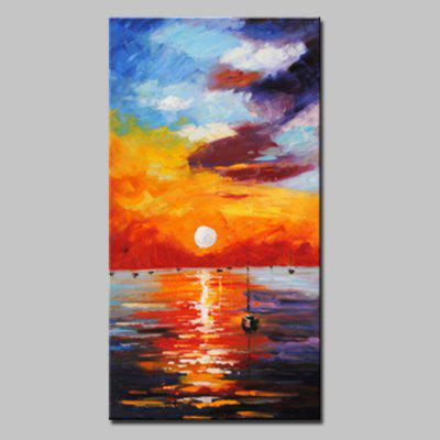 Buy COLORMIX Mintura Hanging Oil Painting Sunset Seascape Wall Art for $65.83 in GearBest store