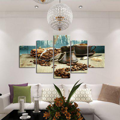 Coffee Beans Printed Painting Canvas Print 5PCSPrints<br>Coffee Beans Printed Painting Canvas Print 5PCS<br><br>Craft: Print<br>Form: Five Panels<br>Material: Canvas<br>Package Contents: 5 x Print<br>Package size (L x W x H): 42.00 x 6.00 x 6.00 cm / 16.54 x 2.36 x 2.36 inches<br>Package weight: 0.4000 kg<br>Painting: Without Inner Frame<br>Product weight: 0.3600 kg<br>Shape: Horizontal Panoramic<br>Style: Modern / Contemporary<br>Subjects: Still Life<br>Suitable Space: Bedroom,Dining Room,Game Room,Kitchen,Living Room