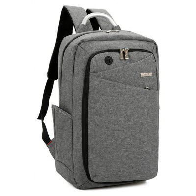 Male Solid Color Large-capacity Backpack